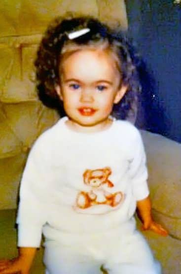 Young Megan Fox childhood picture about 3 years old