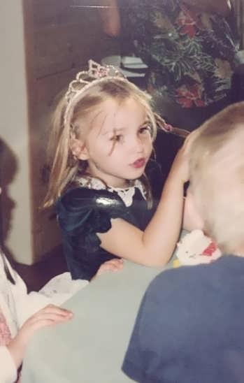 Dove Cameron  as a toddler