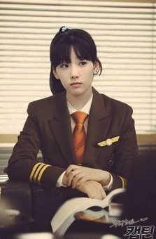 Taeyeon in her school uniform
