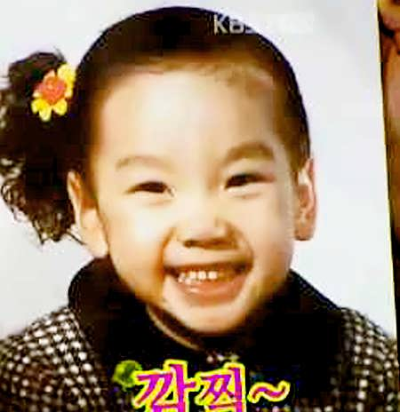 Taeyeon when she was a child.