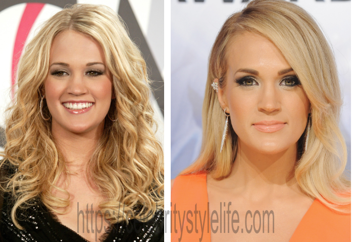 Carrie Underwood nose job before and after?