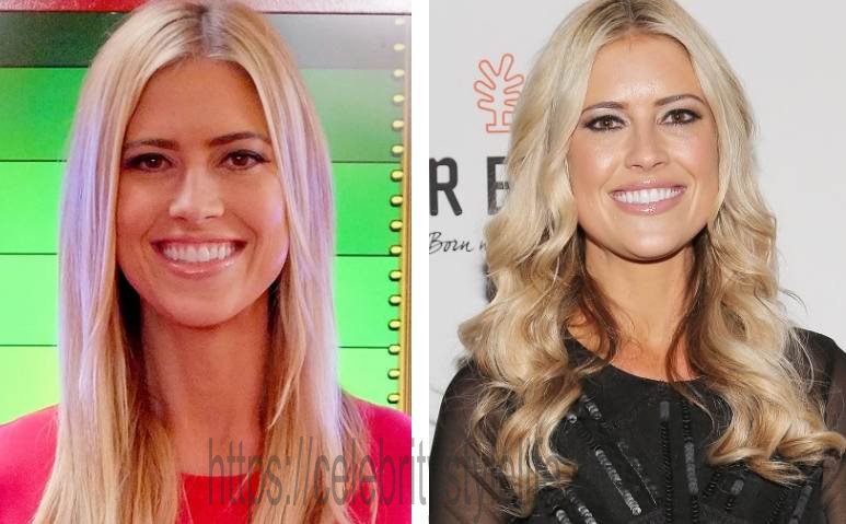An image of Christina El Moussa prior to and also after