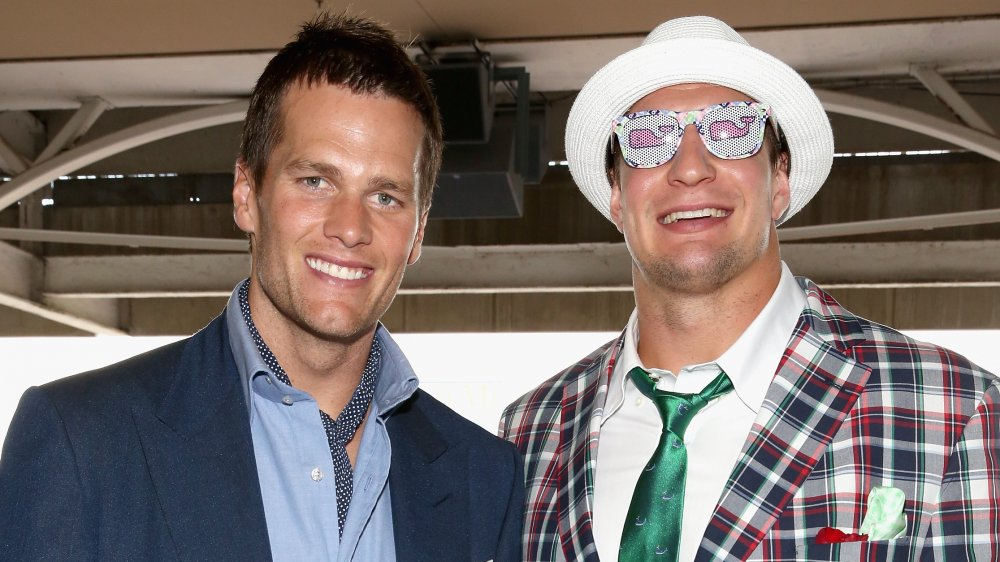 Tom Brady y Rob Gronkowski
