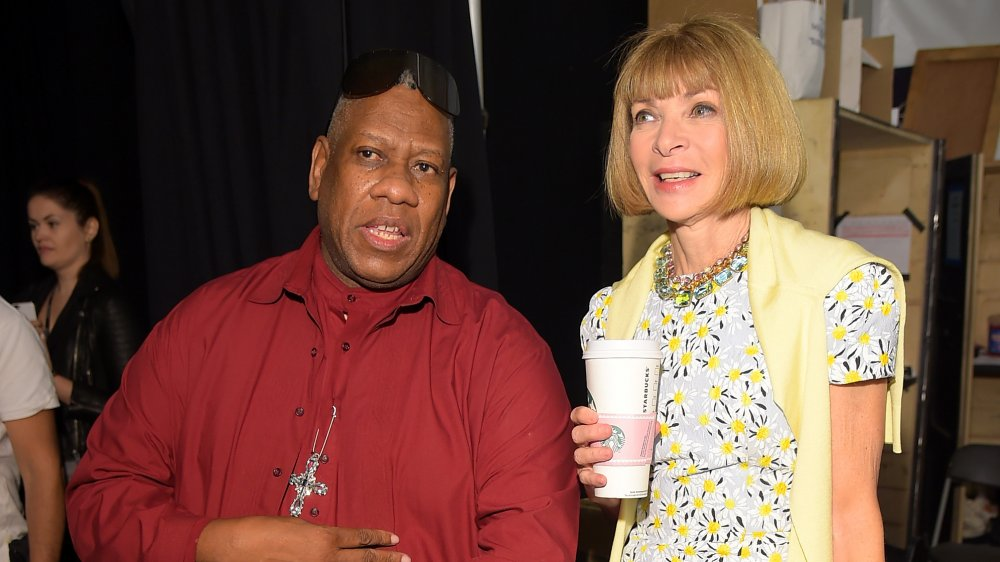 Andre Leon Talley y Anna Wintour