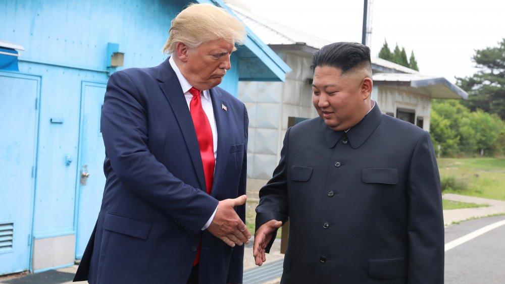 Kim Jong Un y el presidente Donald Trump