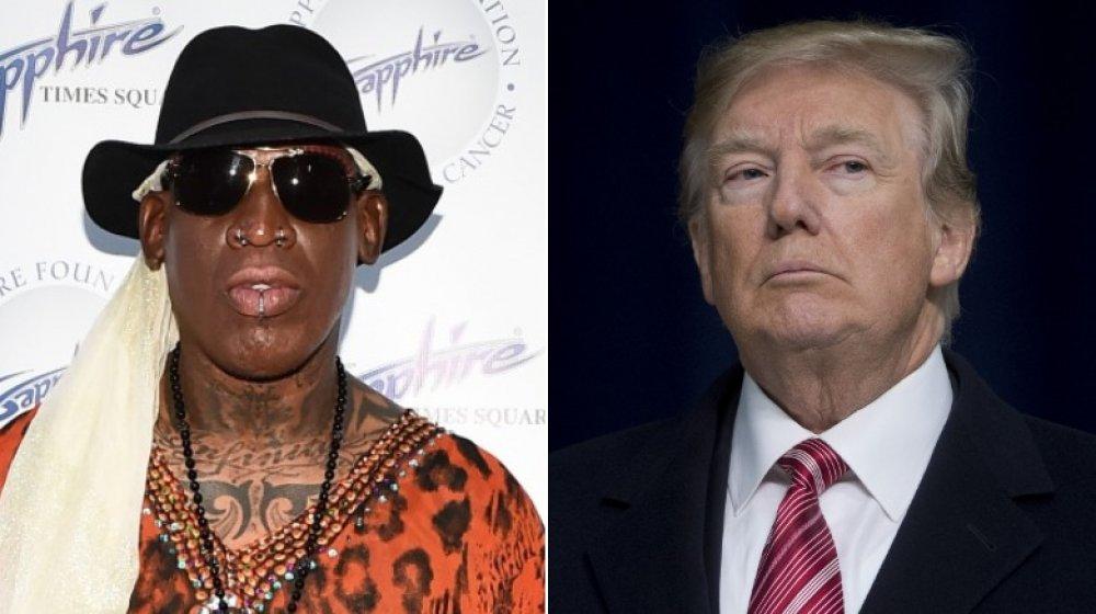 Dennis Rodman y Donald Trump