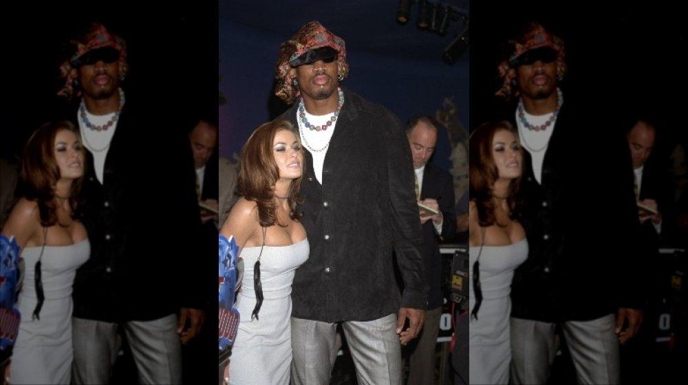 Dennis Rodman y Carmen Electra