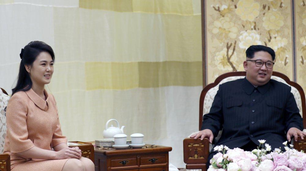 Ri Sol Ju y Kim Jong Un