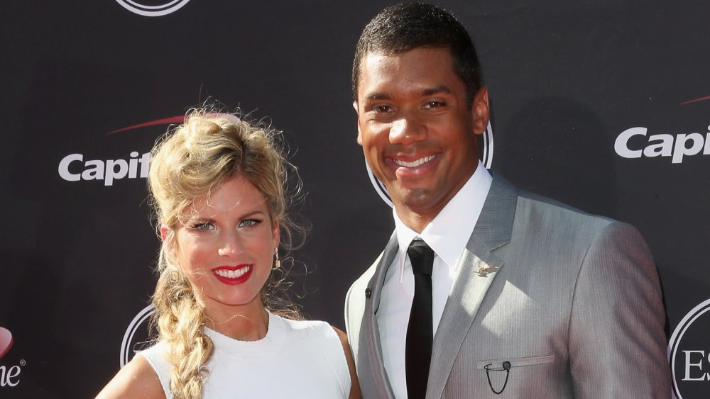 Russell Wilson con su ex esposa Ashton Meem