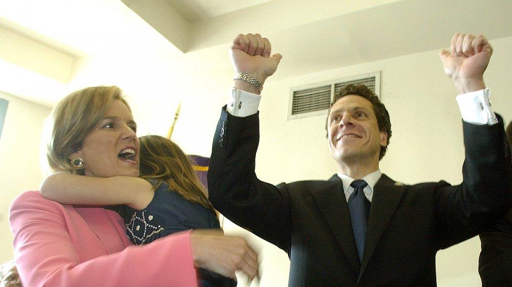 Kerry Kennedy y Andrew Cuomo durante la campaña gubernativa de 2002