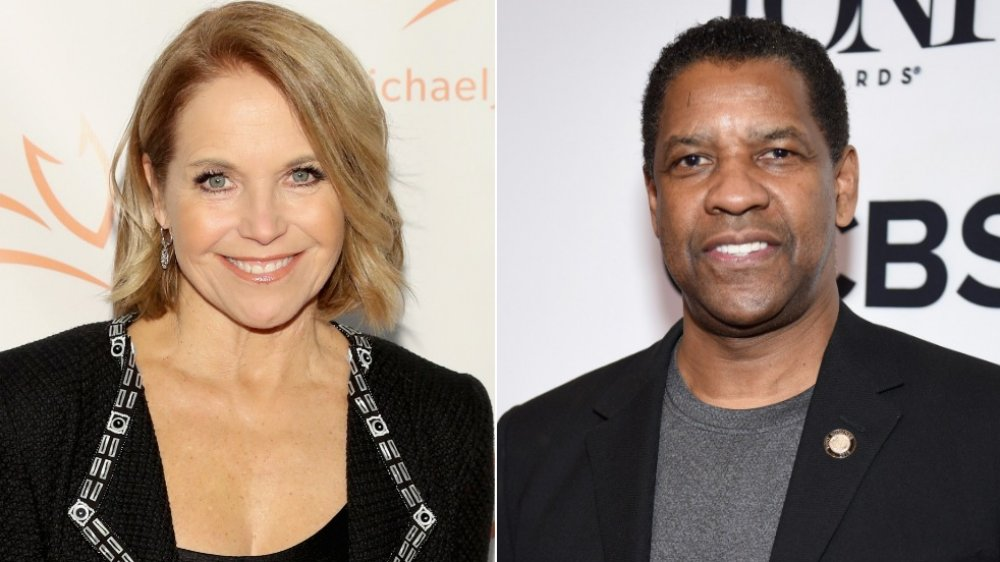 Katie Couric y Denzel Washington