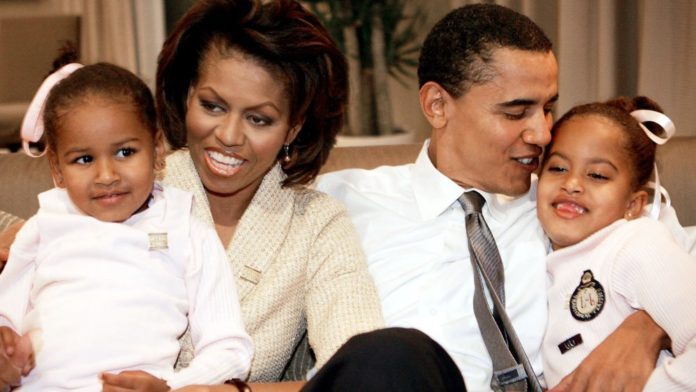 Sasha Obama, Michelle Obama, Barack Obama, Malia Obama