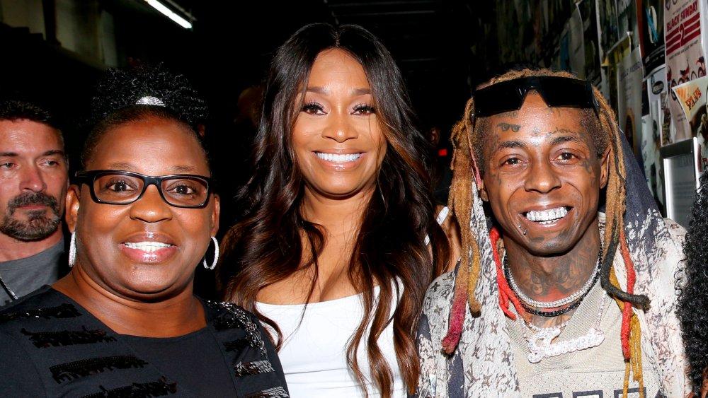 Lil Wayne y Jacida Carter (izquierda)