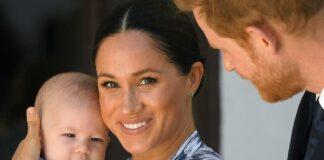 Meghan con el bebé Archie y el príncipe Harry