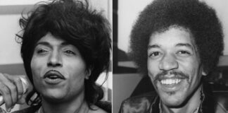Little Richard y Jimi Hendrix