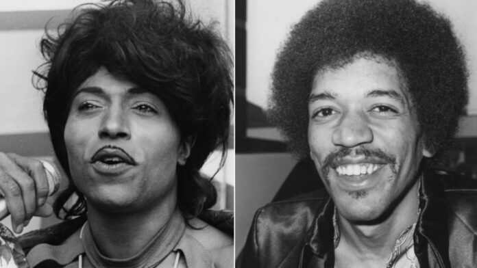 Little Richard y Jimi Hendrix