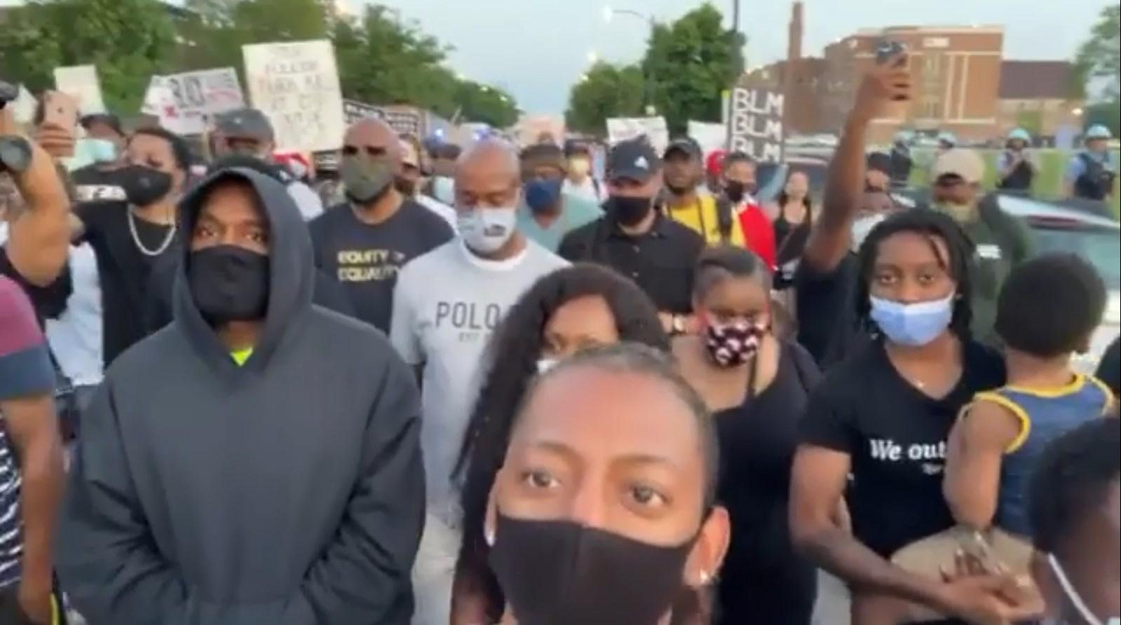 Kanye West Joins Black Lives Matter Protests After Donating $2 ...
